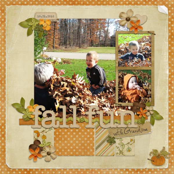 fall fun, Layout by whites19 - love the photo placement and colour scheme