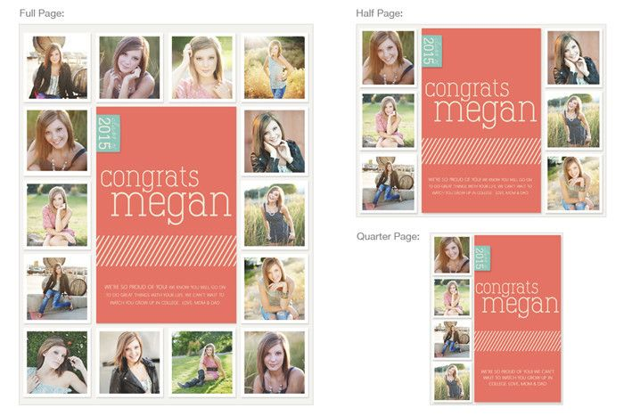 Covergirl or guy yearbook ads wedding children and pets for Free online yearbook templates