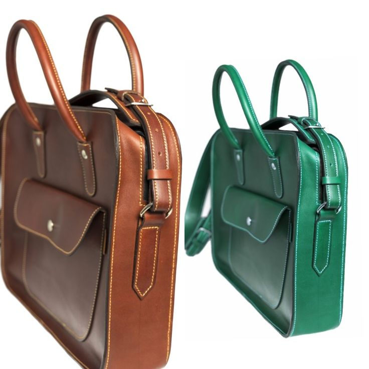 Maletin ejecutivo de cuero 💼   Leather briefcases 💼  #marroquineria
