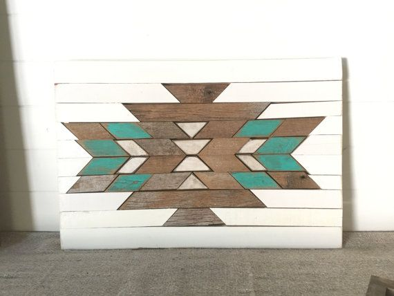 Rustic Reclaimed Aztec Wall Hanging Home Decor Southwestern Tribal