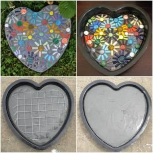 Mosaic Stepping Stone! by christina carrera