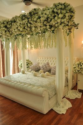 45 best wedding bed decoration images on pinterest romantic all about weddings by zaifie zainal junglespirit Image collections