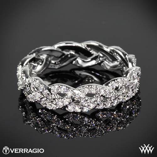erragio Eternal Braid Diamond Wedding Ring