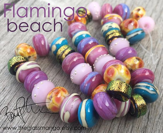 lampwork glass bead set dichroic glass beads gold dichroic glass beads for jewelry