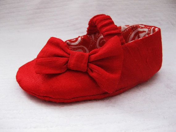 Baby girl shoes red baby shoes girls Valentine by allthingsforbaby, $30.00