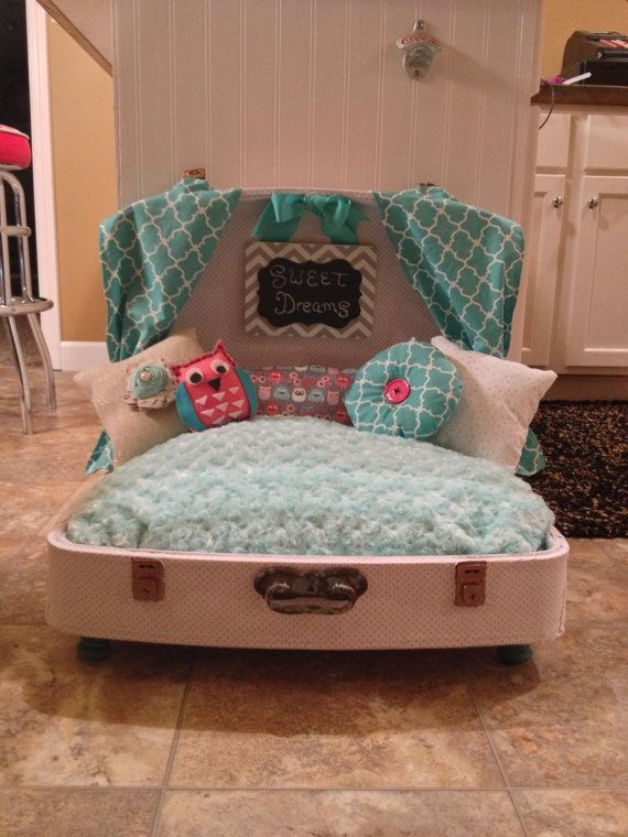 Suitcase Dog Bed Etsy