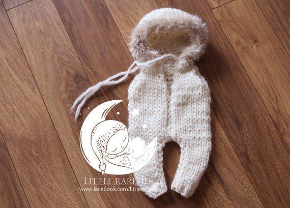 eskimo romper  wool and fur  photo prop  by LittleRaritiesStudio
