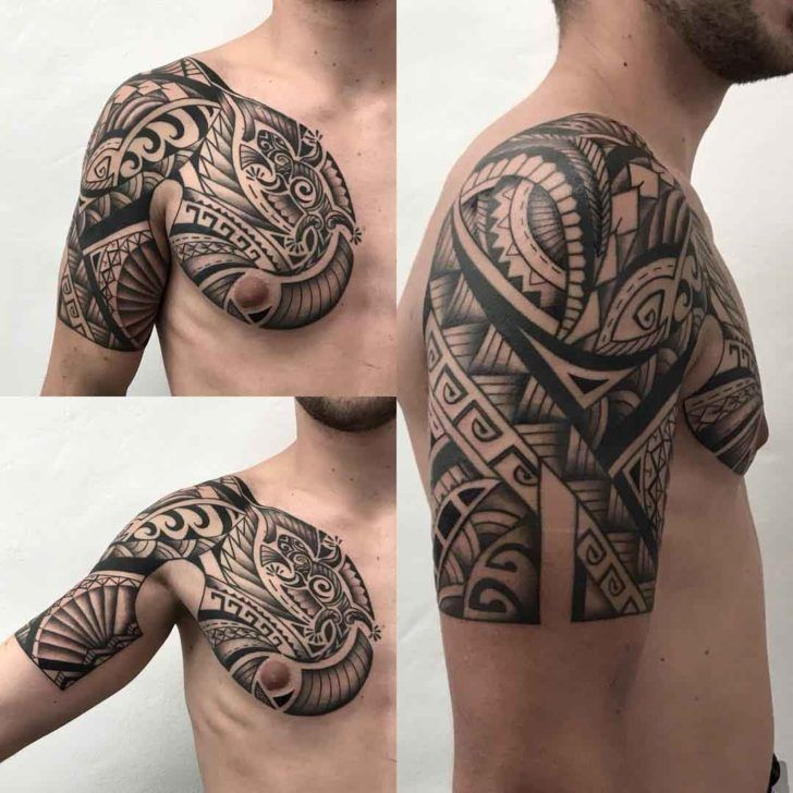 Shoulder Tattoo Dragon Maori Style Maoritattoosshoulder Tatuaje Maori Tatuajes Para Hombres Henna Para Hombres