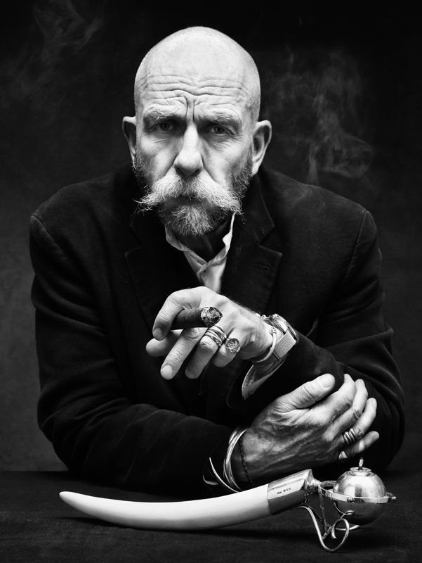 Cigar smoker #6 B&W Photography portrait