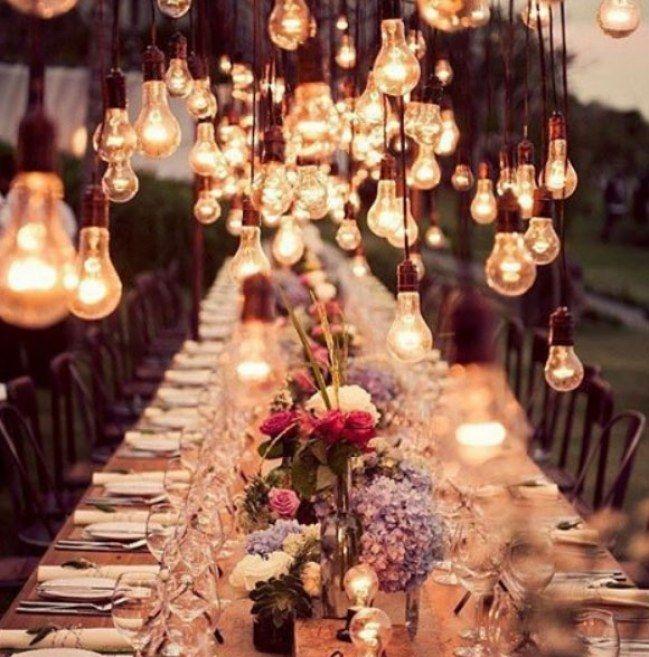 Romantik pur! 20 traumhaft schöne Ideen für Lichterdeko bei der Hochzeit