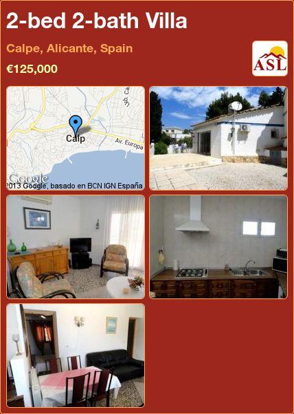 2-bed 2-bath Villa in Calpe, Alicante, Spain ►€125,000 #PropertyForSaleInSpain