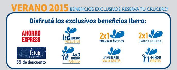Todos los beneficios #Iberocruceros para tus proximas vacaciones! Salidas Verano 2015!