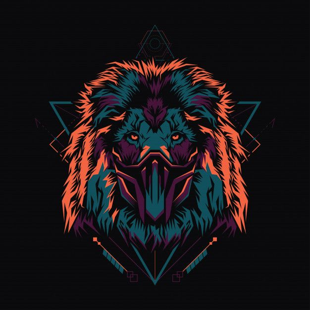 Lion Geometrique Lion Geometrique Illustration De Lion L Art De Lion