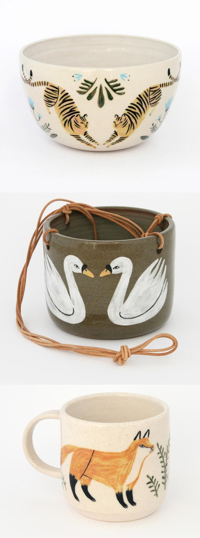 Keep Company is a collaboration between Jen Collins and ceramicist Shaya Stevenson. Each piece is wheelthrown by Shaya and then glazed by Jen.: