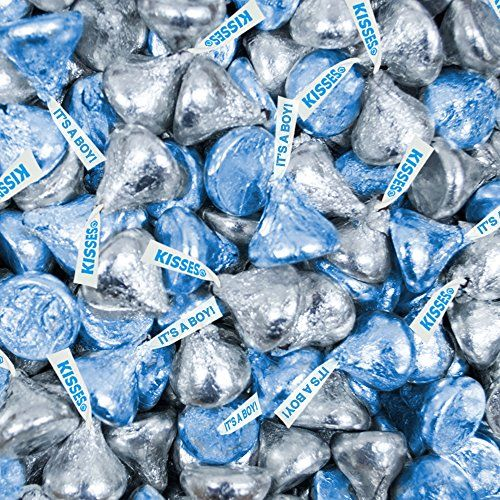 Bulk Chocolate Silver and Blue It's a Boy HERSHEY'S KISSES Candies 1 lb WH Candy http://www.amazon.com/dp/B010C29SSA/ref=cm_sw_r_pi_dp_mouYwb0N5T6MX