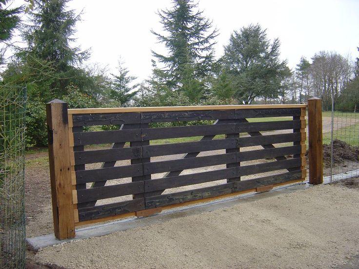 17 best images about portails on pinterest wood gates tuin and fencing. Black Bedroom Furniture Sets. Home Design Ideas