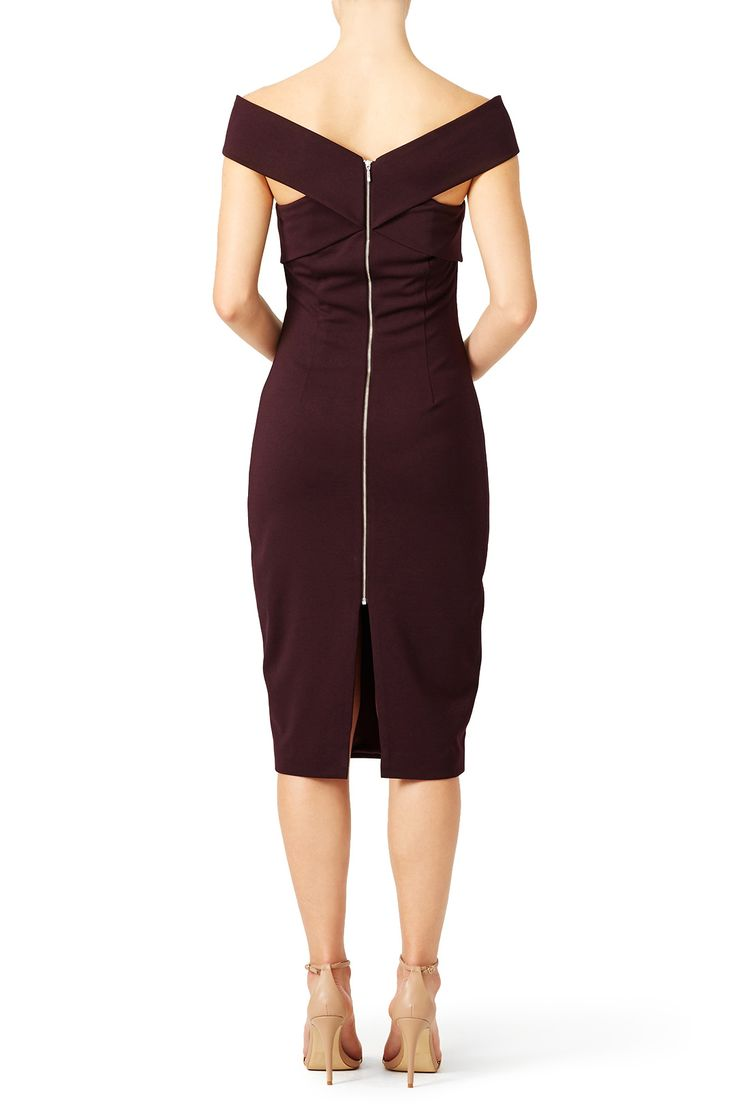 Marsala Be Still Dress by FINDERS KEEPERS for $40 | Rent The Runway