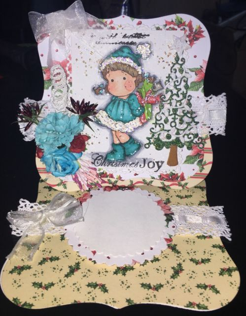 Magnolia Tilda With Christmas Present Easel Card | eBay