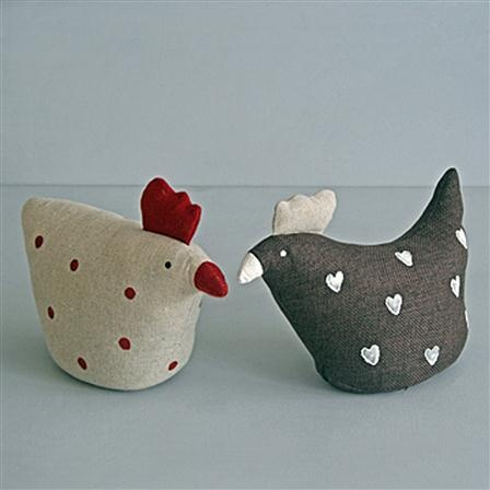 Country Accents Set of 2 Chicken Doorstops