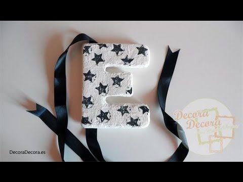 Letras decorativas de cartón