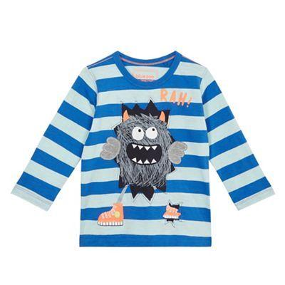 bluezoo Boys' blue long sleeve monster t-shirt | Debenhams