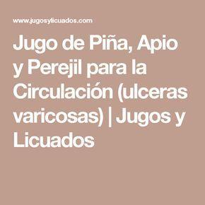 Jugo de Piña, Apio y Perejil para la Circulación (ulceras varicosas) | Jugos y Licuados
