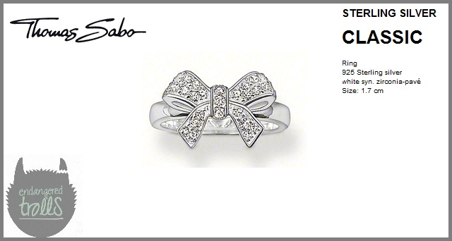 Thomas Sabo - Fall 2012 - Classic Collection - Pavé Bow Ring (Clear)