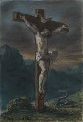 Christ on the Cross - Eugene Delacroix