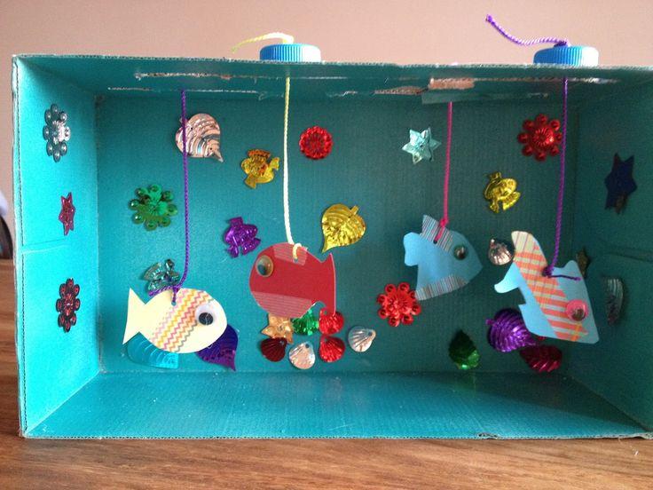 Aquarium en carton à faire avec les enfants