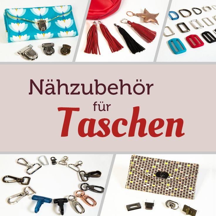 Zum Taschen nähen braucht man Zubehör: Schnallen, Ringe, Karabiner, Anhänger -Erfahre mehr über die Verwendung und zum Kaufen von Nähzubehör