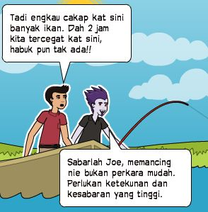 Because something is worth sharing: Kisah memancing ikan