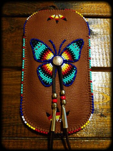 """Beaded Smartphone Pouch """"Butterfly"""""""