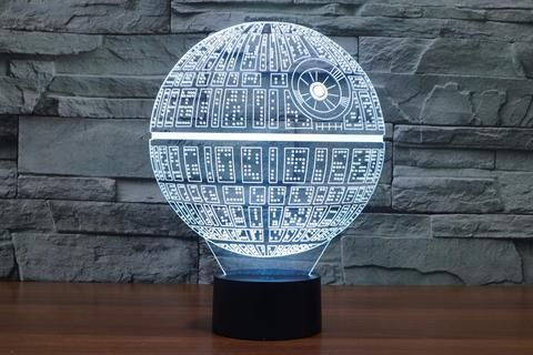 CREATIVE Star Wars Death Star 3D LED Light Lamp Size: 24.6 X 18.6 X 8.7 CM Are Batteries Required: No Power Source: USB Cable Pattern: Star Wars Death Star Features: - The Lamp Illuminates in 7 colors