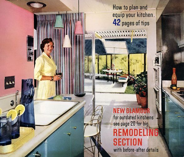 Pendant lighting was used in homes in the 1950s and into the very early 1960s before fading out of style.  Pendant lighting would reappear in the 2000s.  Here are three national advertisements from 1960.: