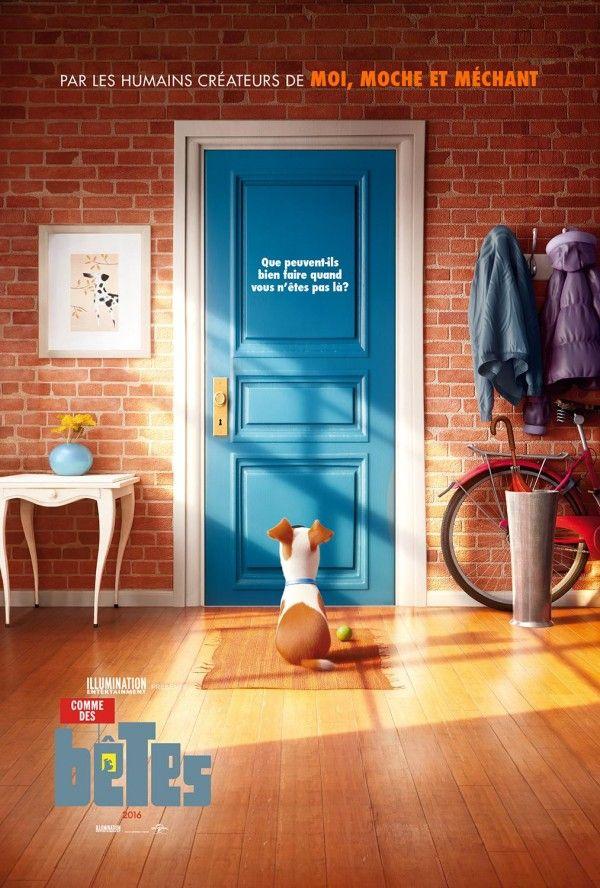 Affiche #CommeDesBêtes (The Secret Life Of Pets) réalisé par Chris Renaud et Yarrow Cheney sortie le 27 Juillet 2016.