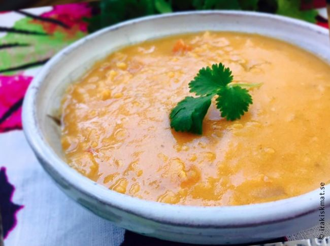 Dhal-soppa, röd linssoppa med