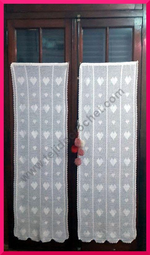 Cortinas en tejido crochet ganchillo modelo rom ntico - Tejidos de cortinas ...
