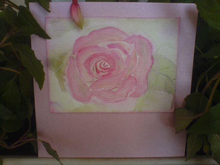 Watercolor/Aquarell Hand Gift-Tags/Geschenkeanhänger & Card/Karten