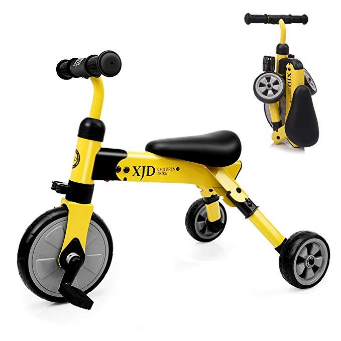 Xjd 2 In 1 Kids Glide Tricycles Toddler Tricycle Baby Balance Bike Trike For 2 Years Old And Up Boys Girls Gift Kids Bike Trike Kids Tricycle 2 4 Years Old Revi