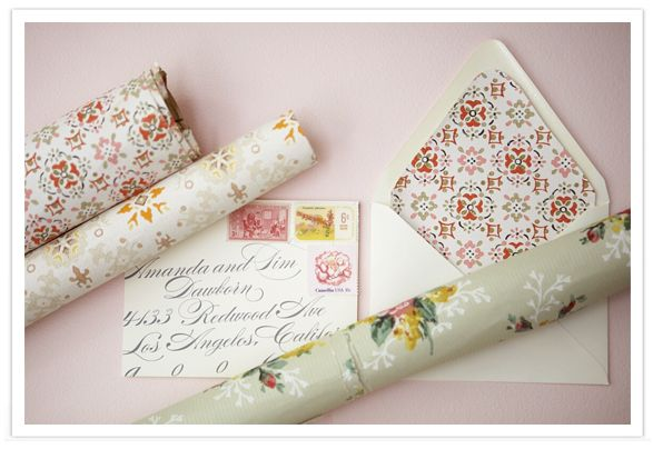 Wallpaper invitations