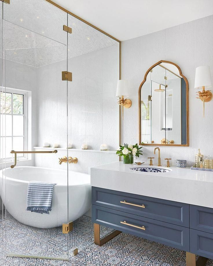 White Bathroom Set Navy Blue And Gold Bathroom Accessories Blue And Green Bathroom Decor 2019011 Bathroom Inspiration Beautiful Bathrooms Bathrooms Remodel