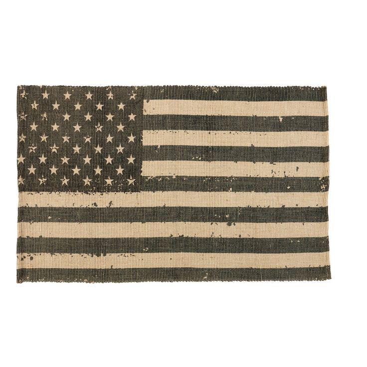 Jute tapijt met USA vlag 102 x 180 cm