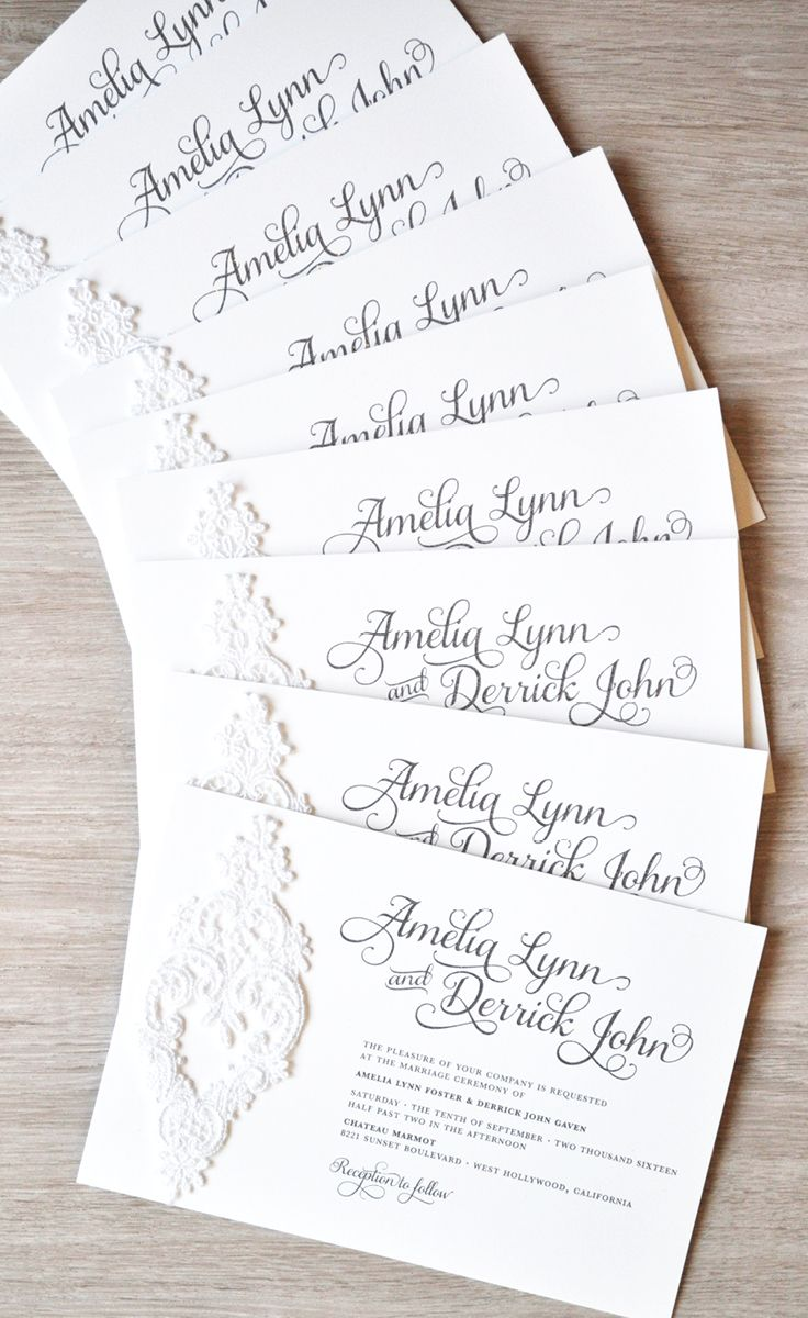 444 best Wedding Invitations images on Pinterest   Invitations ...