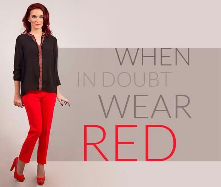 #red #slimfit #casualblouse www.sapiostore.ro