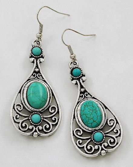 Turquoise Earrings Country Style Pinterest Jewelry And