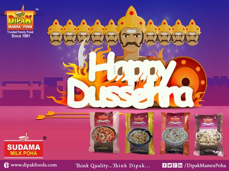 Wish you very Very Happy Dussehra..  Happy Dussehra..!! #HAPPY #DUSSEHRA #HAPPYDUSSEHRA #THINKQUALITYTHINKDIPAK #FOOD #QualityFood #DIPAKFOOD