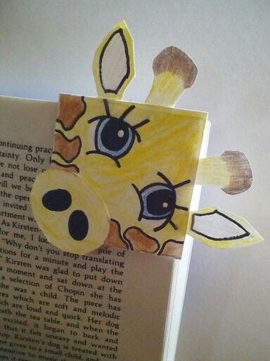 Giraffe corner bookmark. By MOONflare03.