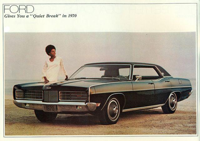 1970 Ford LTD 4-Door Hardtop .  BAD DESIGN ERA ... COP CARS + NASCAR.