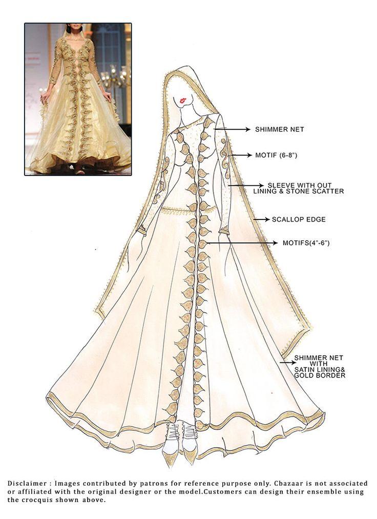 #DIY Shimmer Net Floor Length #Anarkali Suit