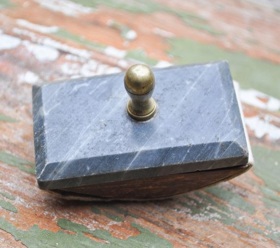 Vintage small ink blotter by CockroachShop on Etsy, $10.00
